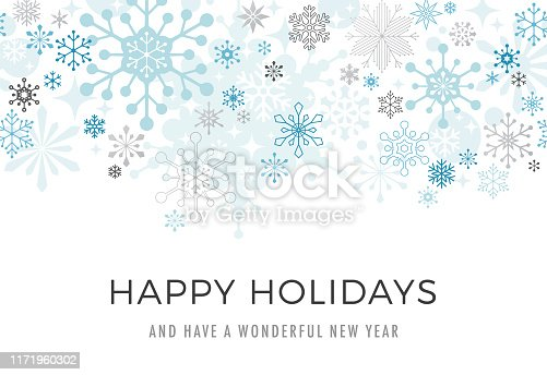 istock Modern Graphic Snowflake Holiday Background 1171960302
