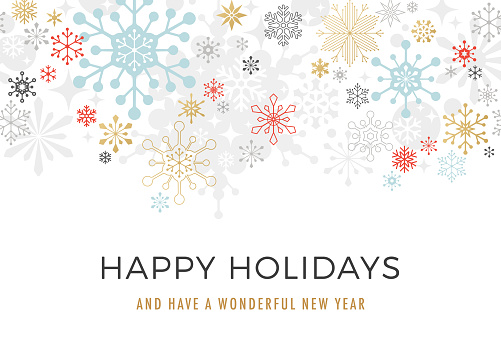 Modern Graphic Snowflake Holiday Background