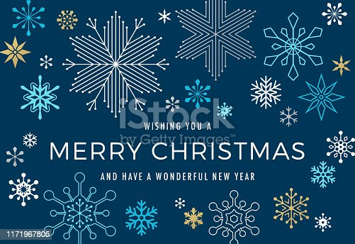 istock Modern Graphic Snowflake Holiday Background 1171967805