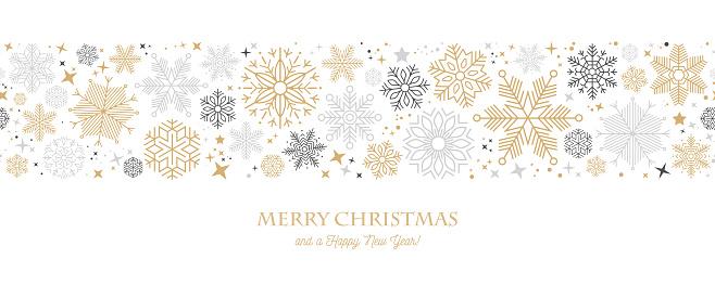 Modern Graphic Snowflake Holiday, Christmas Background stock illustration