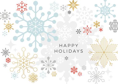 현대 그래픽 눈송이 휴가 크리스마스 배경 0명에 대한 스톡 벡터 아트 및 기타 이미지