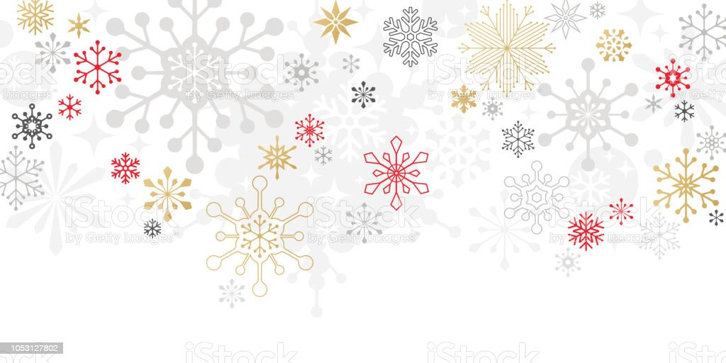 Modern Graphic Snowflake Holiday, Christmas Background vector art illustration