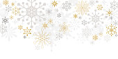 Graphic snowflakes on white background. Christmas, holiday card.