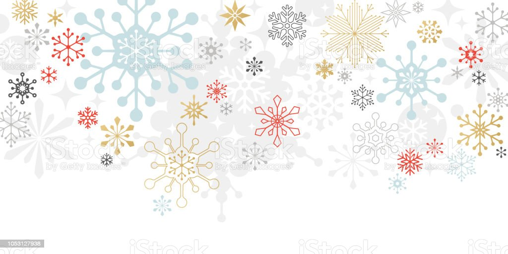 Modern Graphic Snowflake Holiday Christmas Background