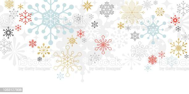 Moderne Grafik Schneeflocke Urlaub Weihnachten Hintergrund Stock Vektor Art und mehr Bilder von Abstrakt