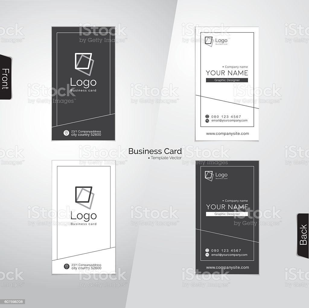 Modern gray and white vertical business card vector templates stock modern gray and white vertical business card vector templates royalty free modern gray and white reheart Gallery