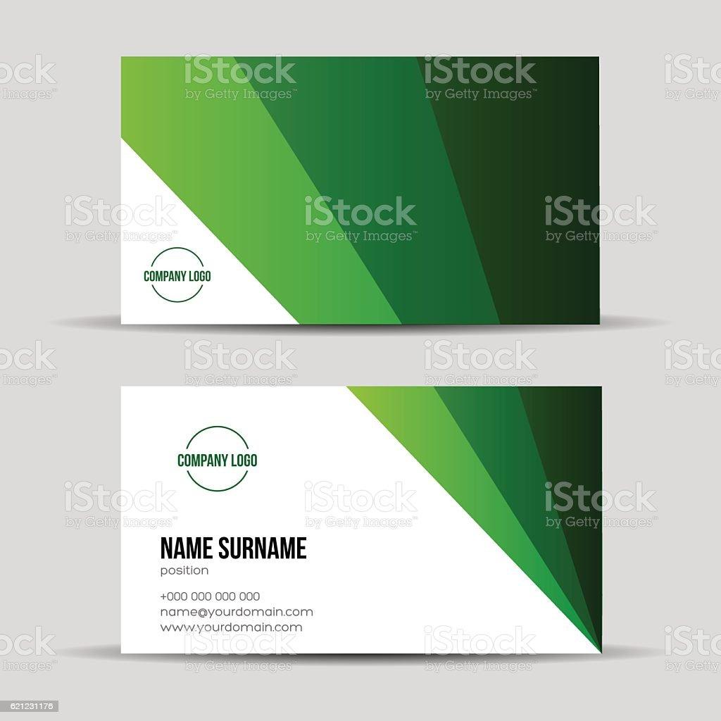 Modern Green Business Card Template stock vector art 621231176 ...