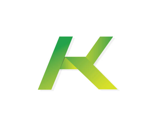 Modern Green Steel Ribbon K Letter Alphabet Symbol Modern Green Steel Ribbon K Letter Alphabet Symbol, Suitable For Technology, Renewable Energy Industry, Finance, Creative, Marketing And Other Digital Business Related Company k logo stock illustrations