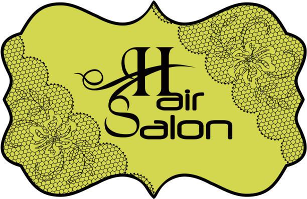 Modern Hair Salon Logo vector art illustration