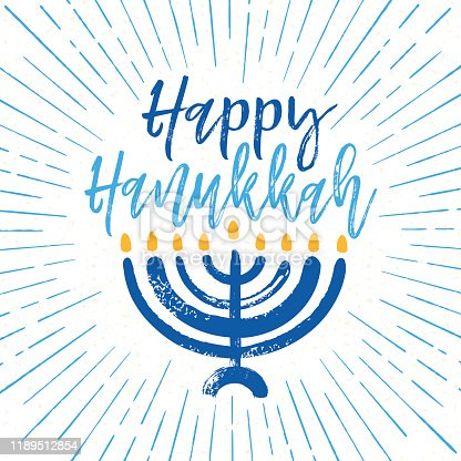 istock Modern Hanukkah Holiday Greeting Card 1189512854