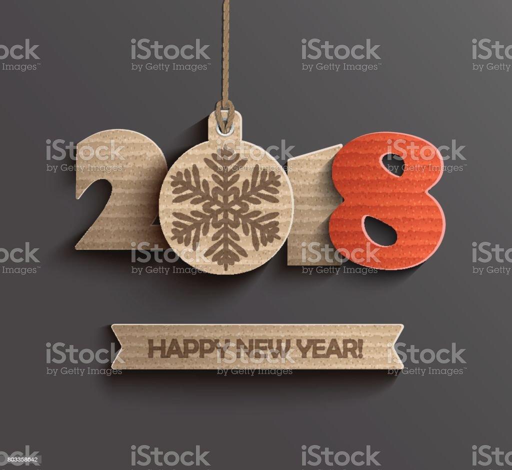 Diseño moderno y feliz año nuevo 2018. ilustración de diseño moderno y feliz año nuevo 2018 y más vectores libres de derechos de 2018 libre de derechos