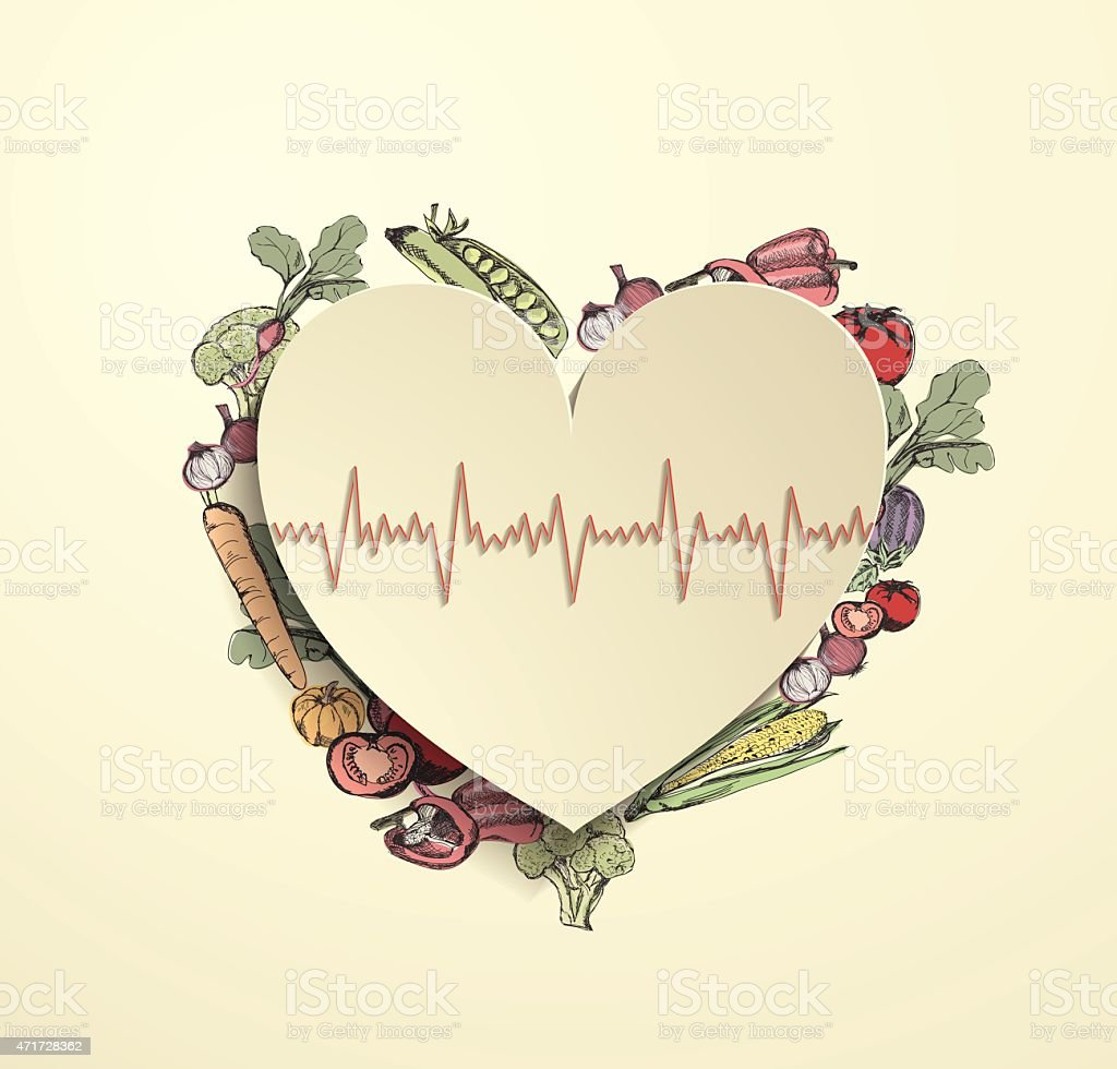 modern healthcare paper heart background with vegetables background  activity banner  sign bubble concepts  topics cooking modern healthcare  paper