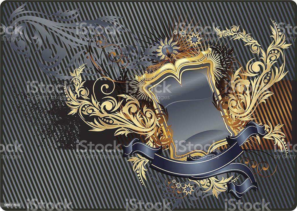 Современный heraldry - Векторная графика Антиквариат роялти-фри