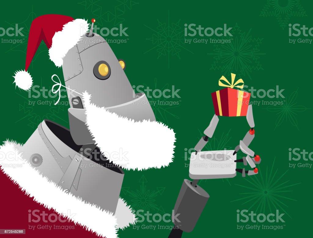 Modern holiday shopping vector art illustration