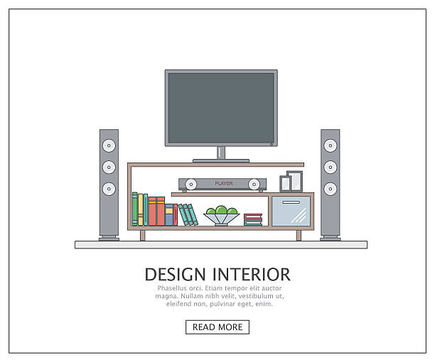 Royalty Free Home Theater System Clip Art, Vector Images ...