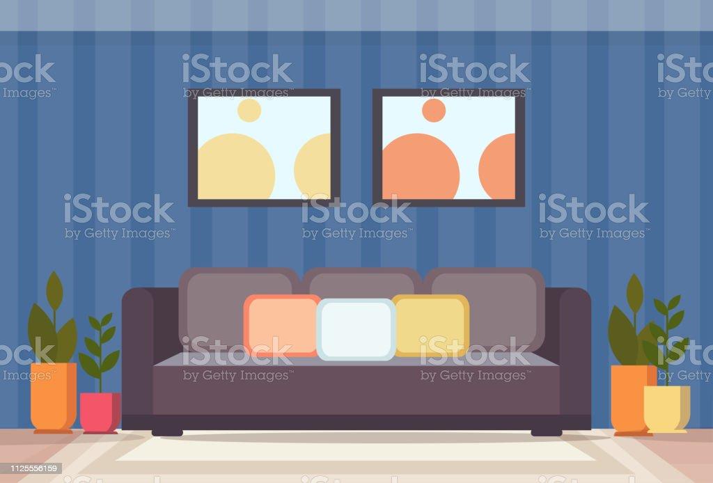 Moderne Wohnzimmer Interior Design Leeren Wohnung Keine