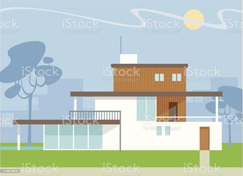 Modern home royalty-free stock vector art