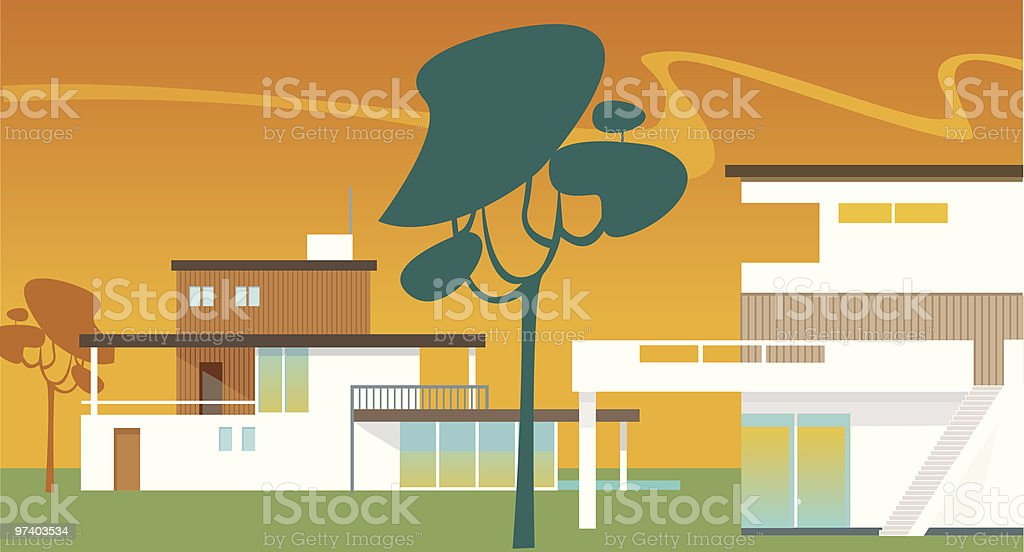 Modern homes royalty-free stock vector art