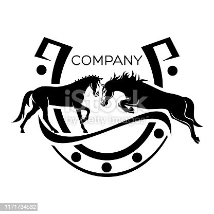 istock Modern horse logo 1171734532