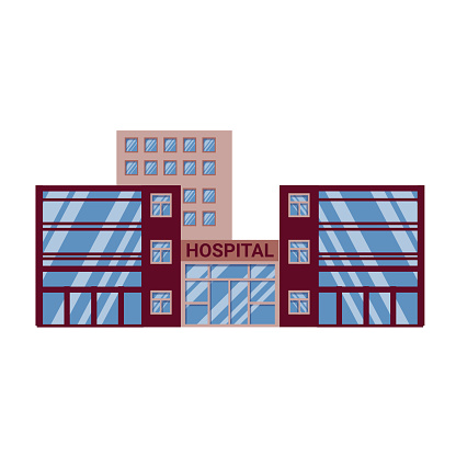 modern hospital building.
