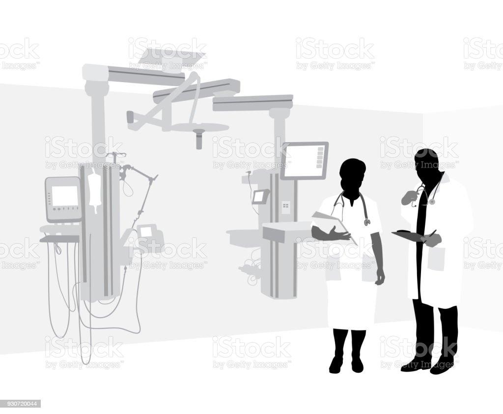 Equipamento moderno Hospital - ilustração de arte em vetor
