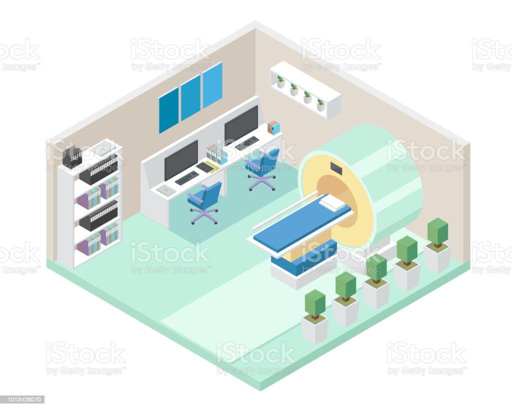 Moderne Krankenhaus Mrt Diagnose Zimmer Bereich Interieur In ...