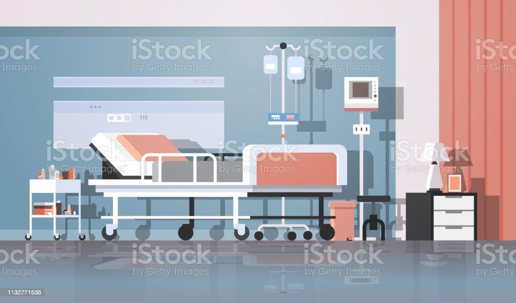 Moderne Hôpital Chambre Intérieur Thérapie Intensive Patient Ward Soins  Infirmiers Lit Sur Roues Clinique Mobilier Horizontal