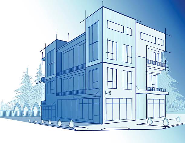 ilustrações de stock, clip art, desenhos animados e ícones de casa moderna - obras em casa janelas