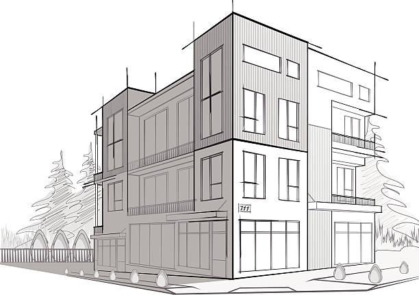ilustraciones, imágenes clip art, dibujos animados e iconos de stock de moderna casa - nueva casa