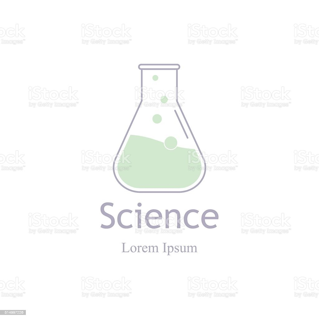 Modern icon laboratory, chemistry, medicine. Research and science. vector art illustration