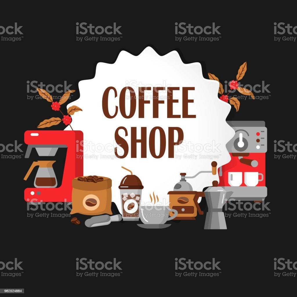 Ícones modernos para café e casa de café. - Vetor de Aplicação móvel royalty-free