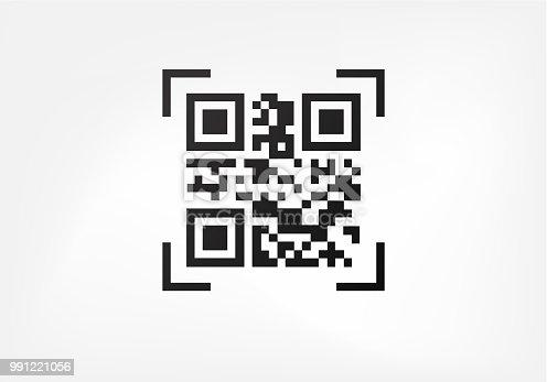 Qr code. Digital data sign for scanners. Modern ID symbol