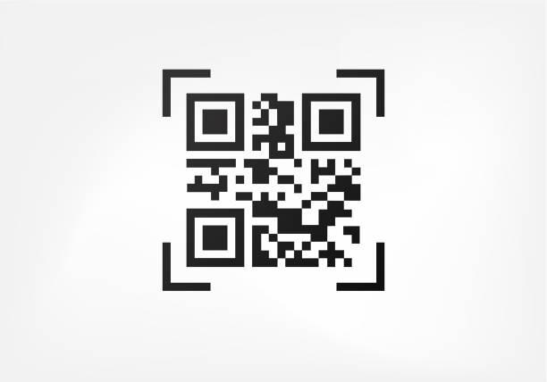 Modern ID symbol Qr code. Digital data sign for scanners. Modern ID symbol coding stock illustrations