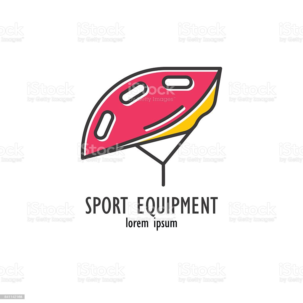 Modern Illustration of bicycle helmet. vector art illustration