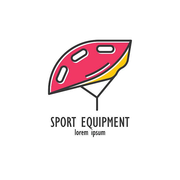 Modern Illustration of bicycle helmet. vector art illustration
