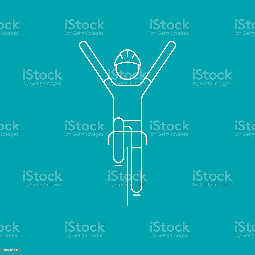 Modern Illustration of cycling race winner. vector art illustration