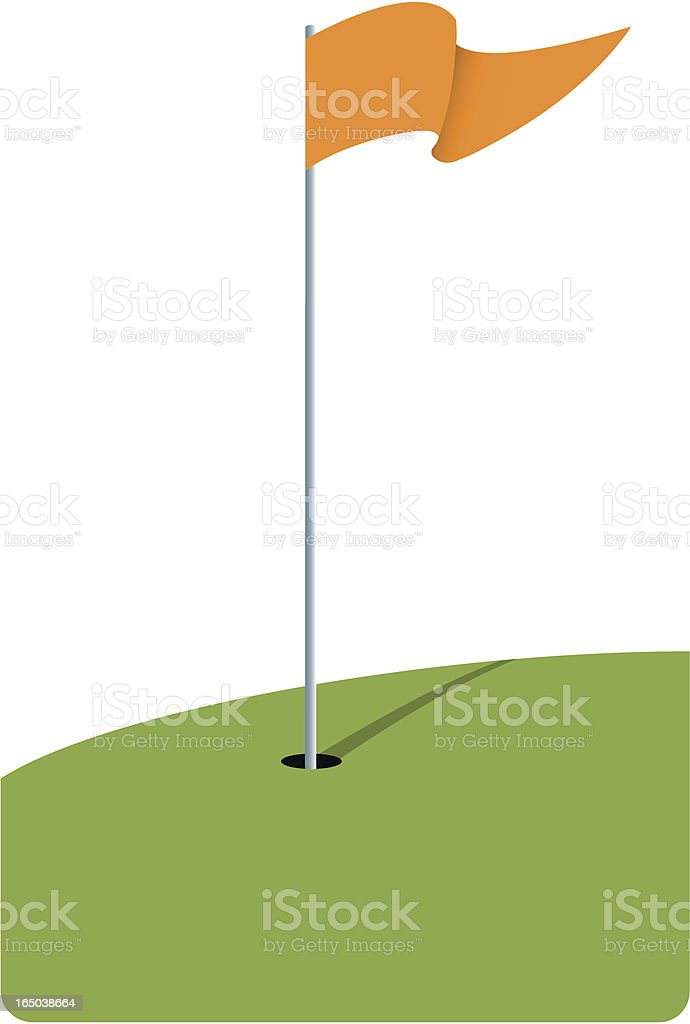 royalty free golf flag clip art vector images illustrations istock rh istockphoto com clip art golf flag pole