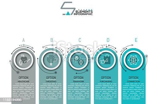 istock Modern Infographic Design Template 1153194995