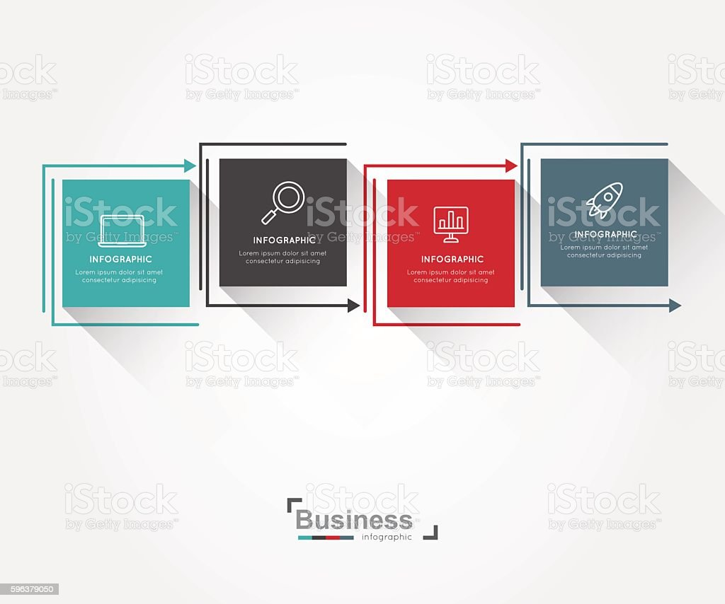 Modern infographic for business concept. vector art illustration