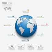 Modern infographic global template,Vector