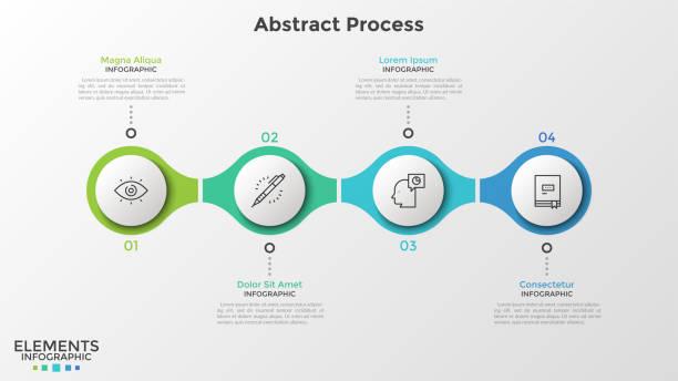 illustrazioni stock, clip art, cartoni animati e icone di tendenza di modern infographic template - infografiche