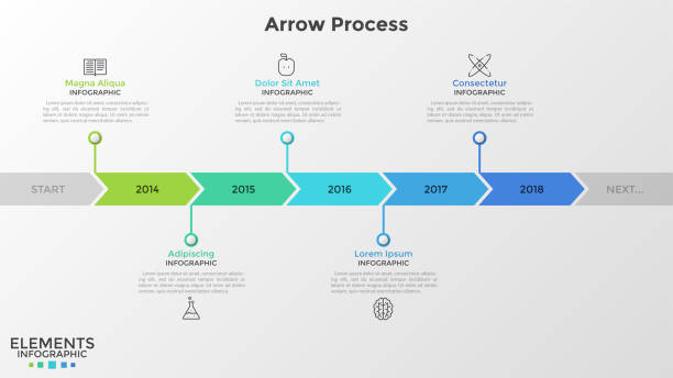 modern infographic template - timeline stock illustrations
