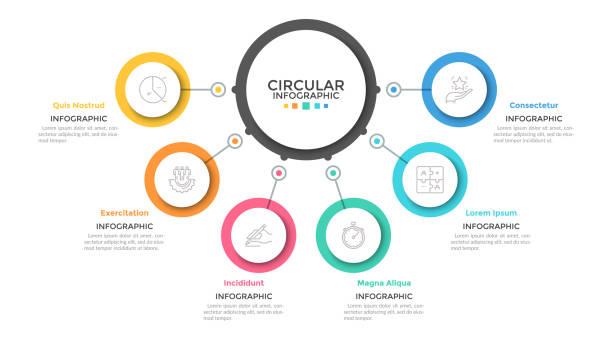 ilustrações, clipart, desenhos animados e ícones de modelo infográfico moderno - infographic