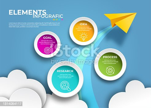 istock Modern infographic template 1314054117
