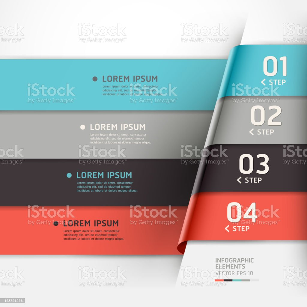 Modern Infographics banner template. royalty-free stock vector art