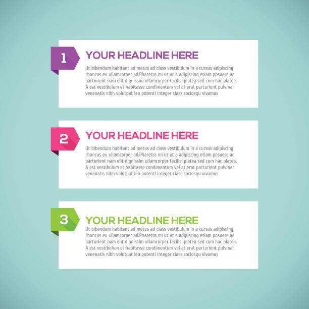 moderne infografiken design-layout mit langen schatten. - treppe stock-grafiken, -clipart, -cartoons und -symbole