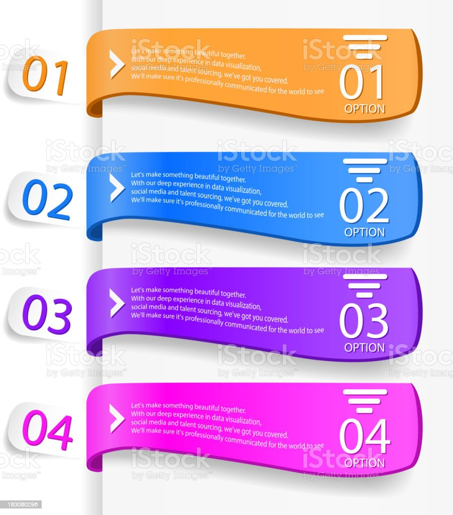 Modern infographics options banner royalty-free stock vector art