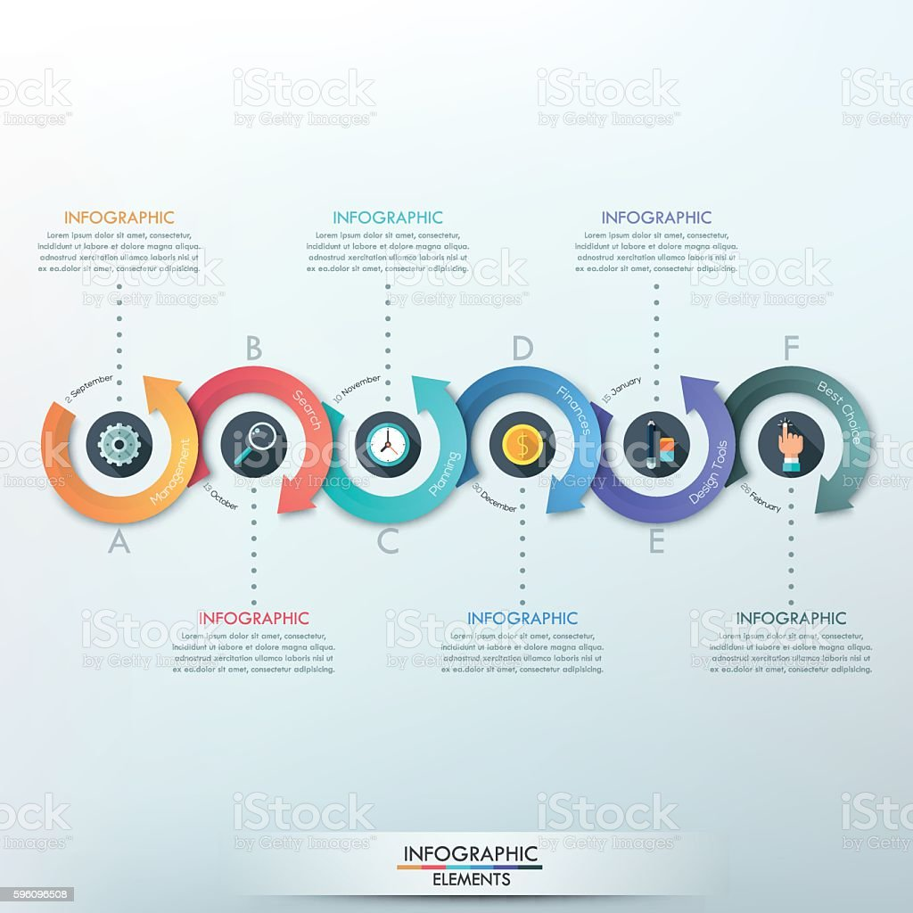 Modern infographics options banner. royalty-free modern infographics options banner stock vector art & more images of brochure