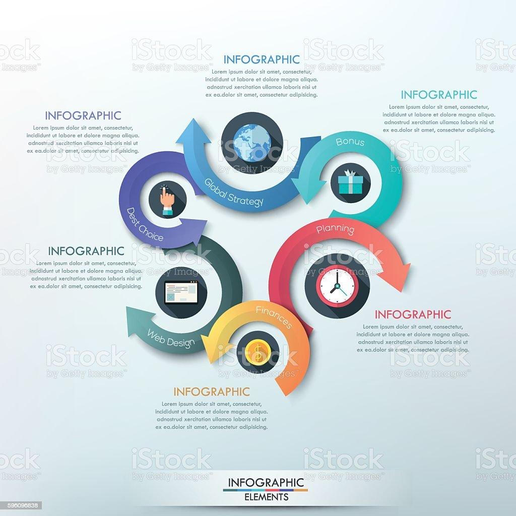 Moderne Infografiken Optionen banner. Lizenzfreies moderne infografiken optionen banner stock vektor art und mehr bilder von broschüre