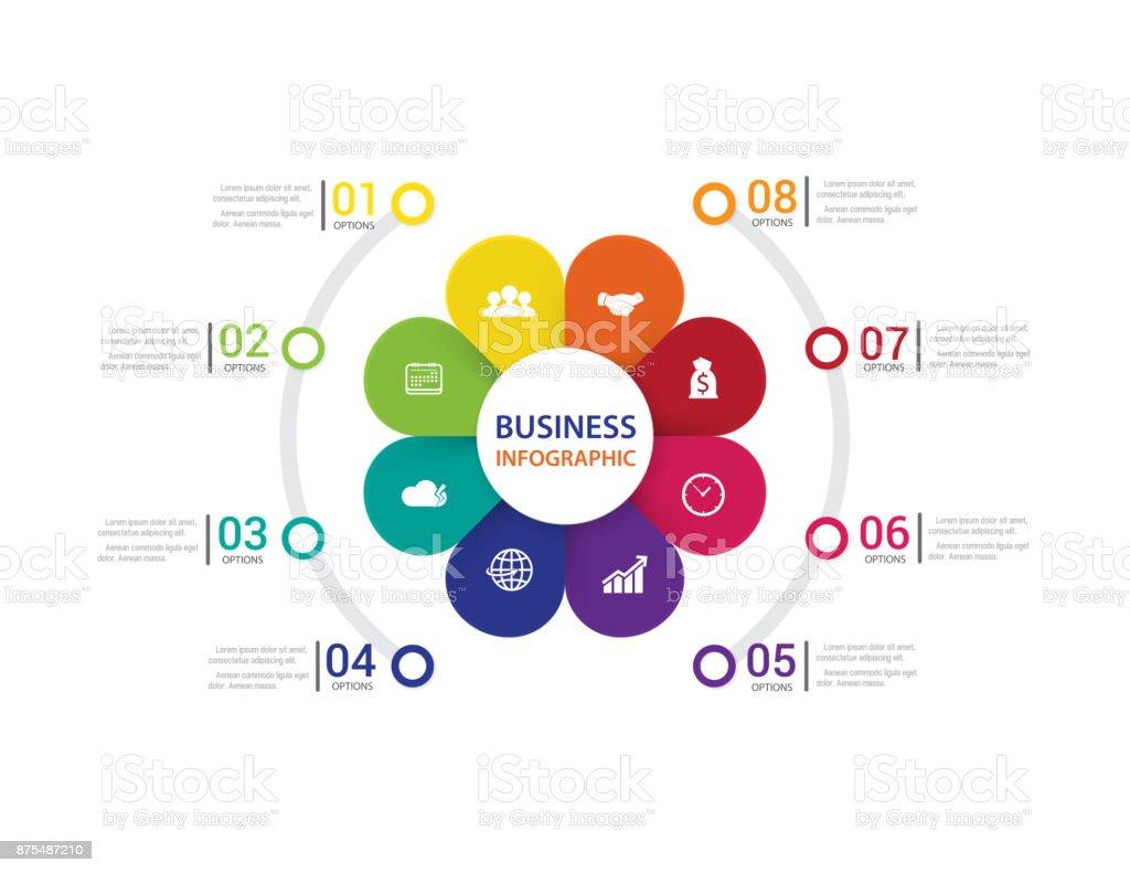 21+ Moderne Infografiken Prozess Mit Verbunden 8 Schritten Vektor ... Bilder